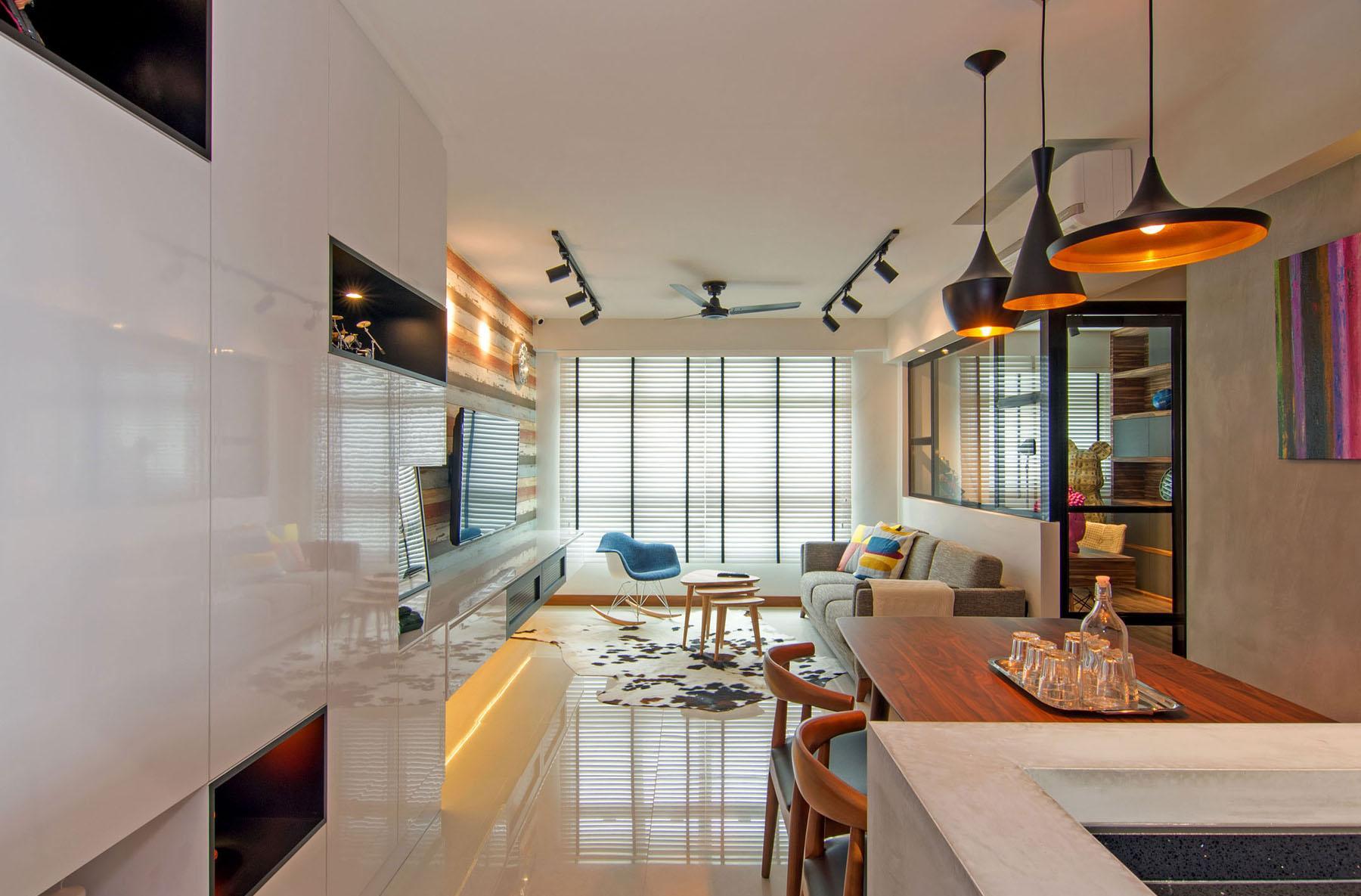 Обстановка и дизайн однокомнатной квартиры
