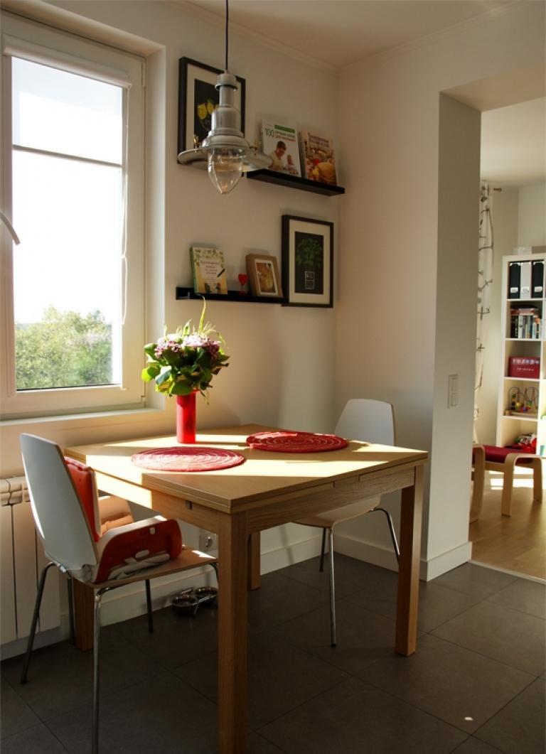 Зонирование кухни-гостиной с помощью арки