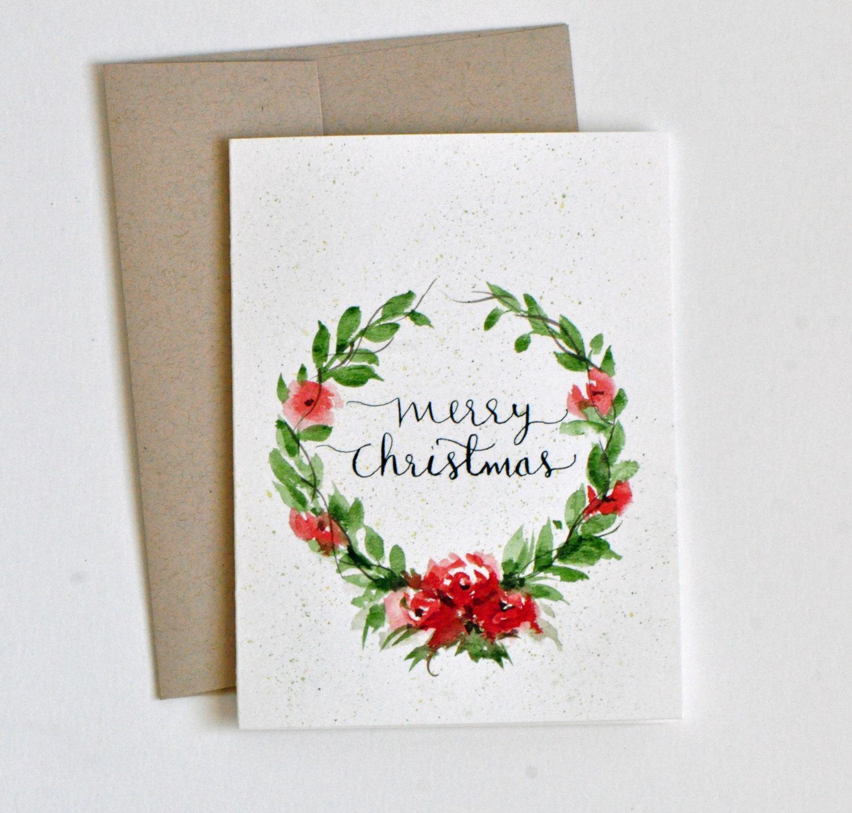 Новогодняя открытка с рисунком