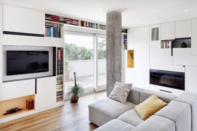 Функциональные и декоративные колонны в современном интерьере