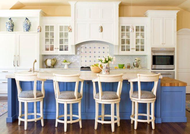 Голубая кухня в стиле