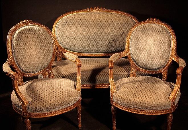 Французский диван и кресла