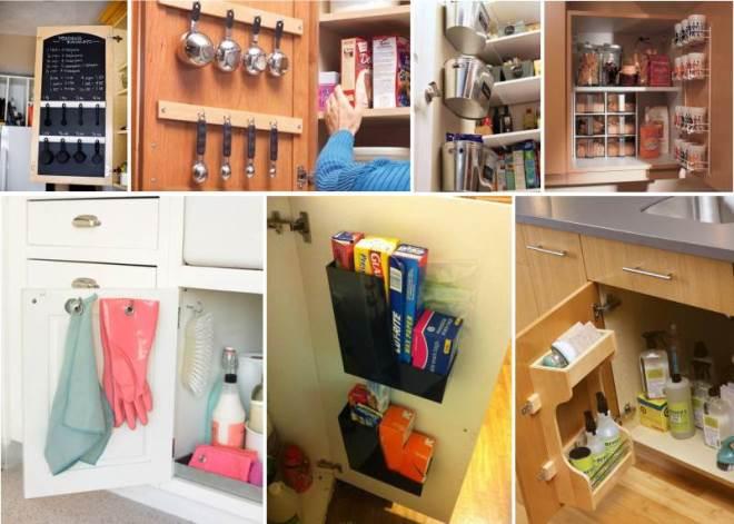 Организация хранения в кухонных шкафчиках