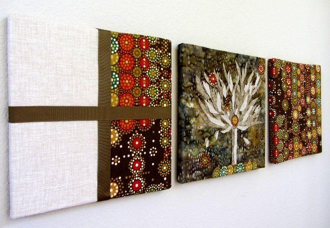 Идеи и инструкция для изготовления картин из ткани своими руками