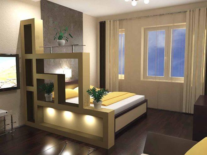 Как оборудовать спальную зону в однушке