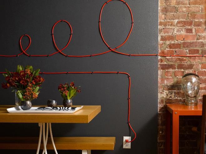 Как убрать провода в интерьере