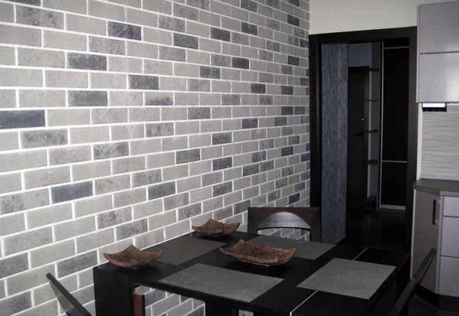 Керамическая плитка, выполненная «под кирпич»