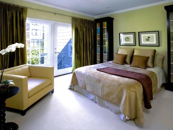Немного каштанового цвета в спальнеНемного каштанового цвета в спальне