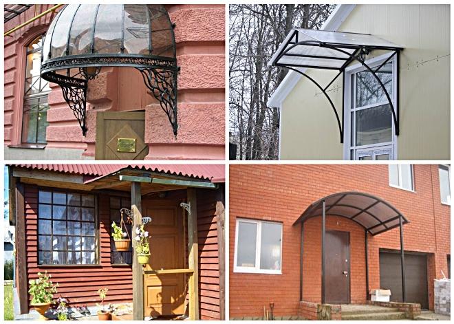 Сооружения над входом оригинальной формы