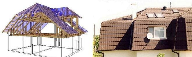 Красивые крыши домов с мансардой и балконом