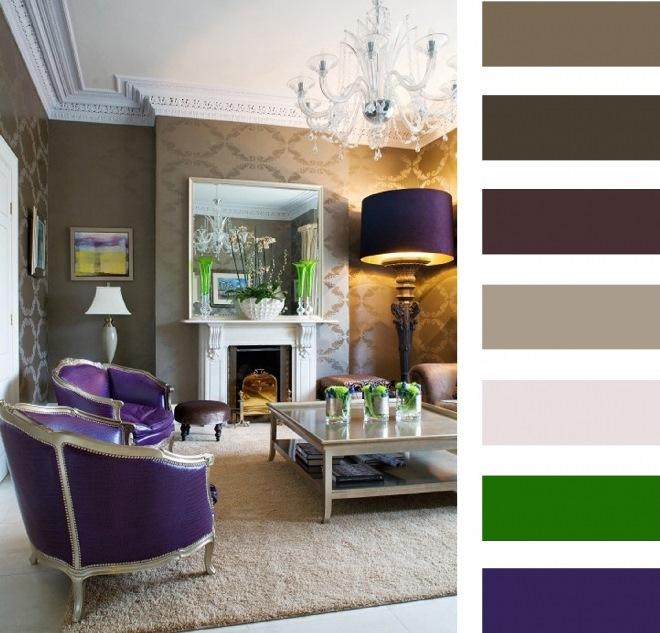 Подбор цветовой палитры для покраски обоев в интерьере