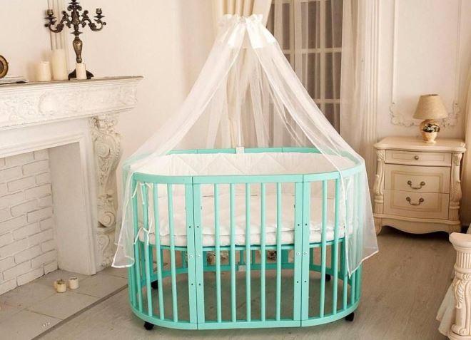 Круглая кровать для ребенка
