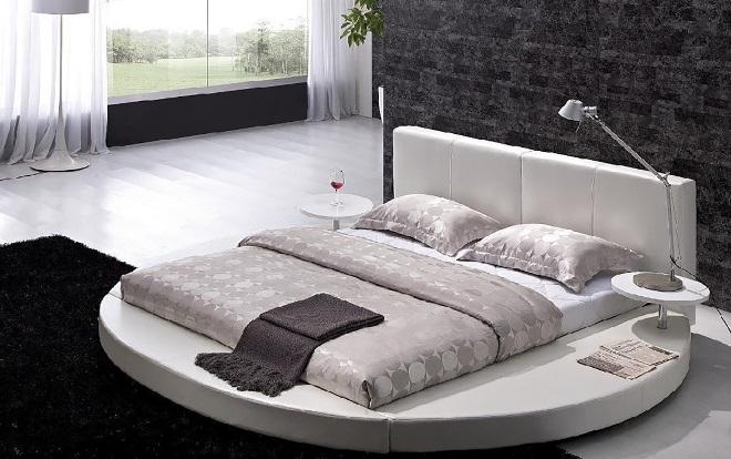 Круглая кровать – незаурядный вариант