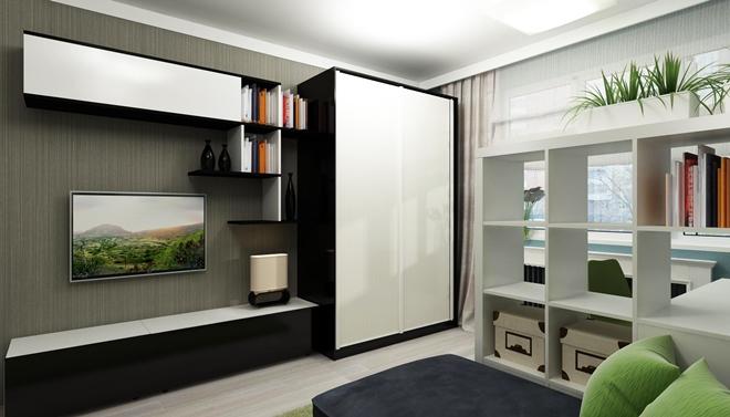 Куда поставить шкаф-купе в однокомнатной квартире