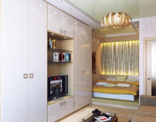 Варианты размещения шкафа в однокомнатной квартире