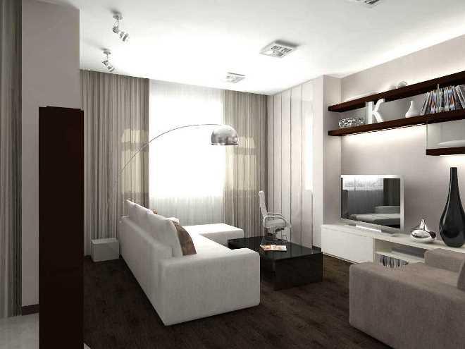 Шторы для гостиной в стиле минимализм