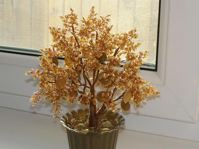 Денежное дерево из бисера: финансовое благополучие как бонус