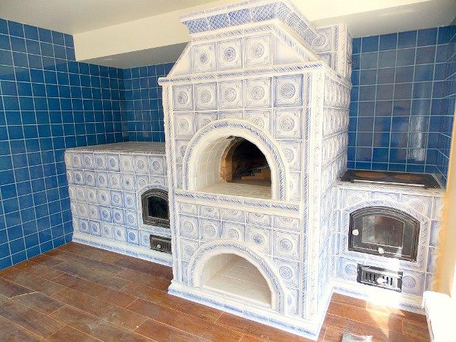 Оформляем печь плиткой