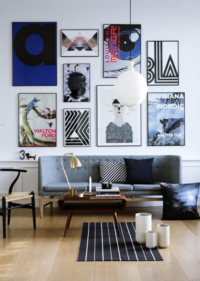 Постеры в гостиной
