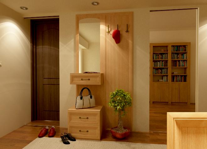 Расстановка модульной мебели в малогабаритной прихожей
