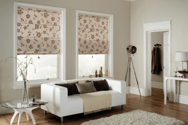 Экономия пространства с римскими шторами