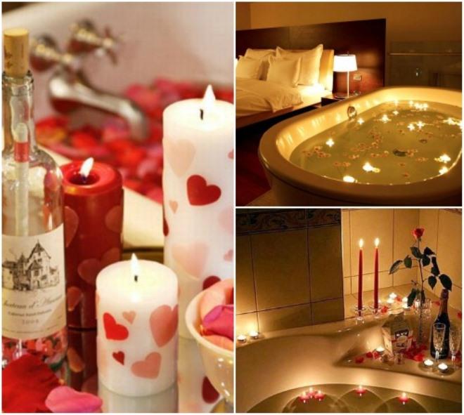 Романтический вечер для любимого в ванной