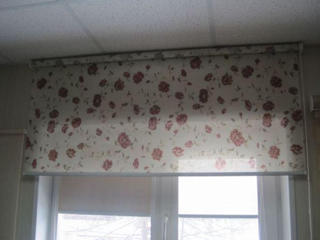Рулонные шторы монтаж на потолок