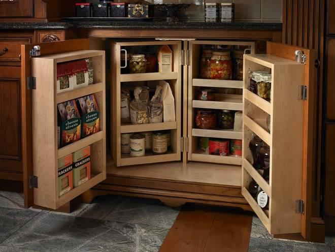 Скрытые системы хранения на кухне