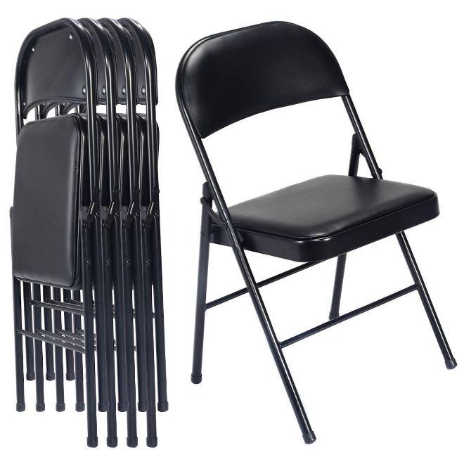 Складные стулья с мягким сиденьем