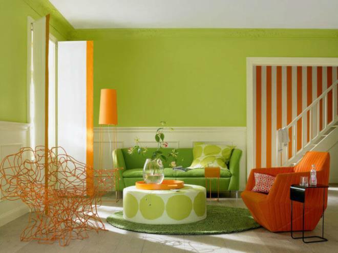 >Сочетание желто-зеленого и оранжево-зелёного в интерьере» width=»660″ height=»495″ class=»alignnone size-full wp-image-17432″></a></p> <p><a href=