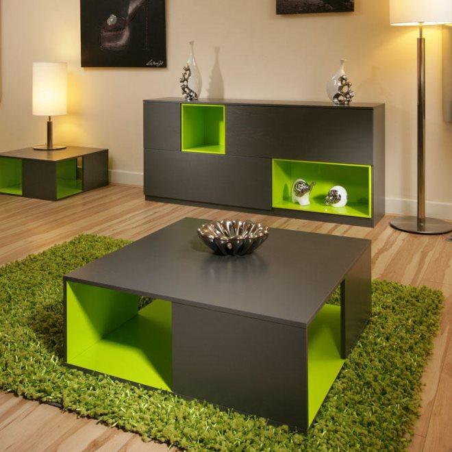 С зеленым