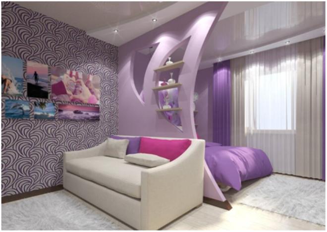 Спальня, совмещенная с лоджией