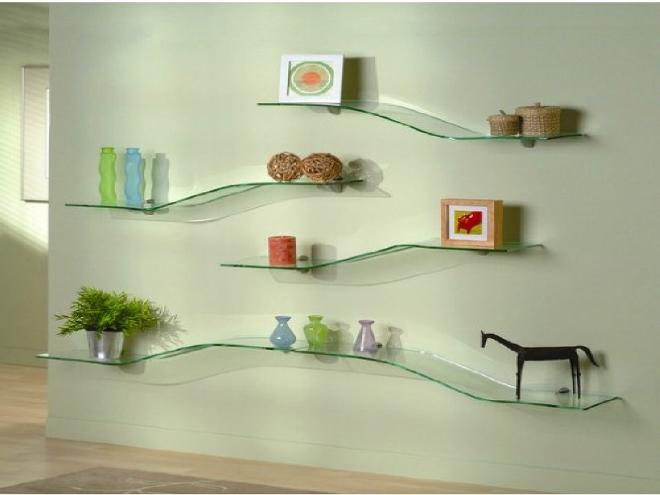 Декор стеклянных полок