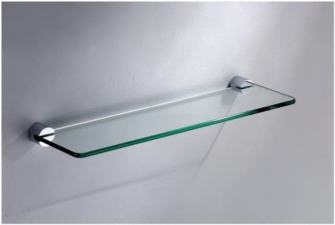 Прямоугольные стеклянные полки
