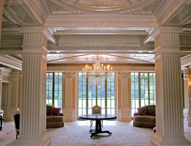 Стилистика интерьера с колоннами