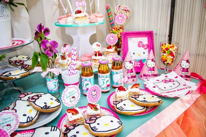 Украшение стола для дня рождения малыша