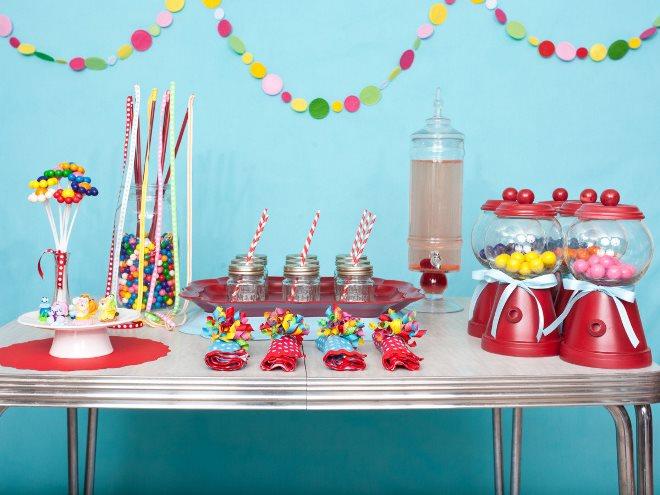 Идеи для оформления детского стола на день рождения
