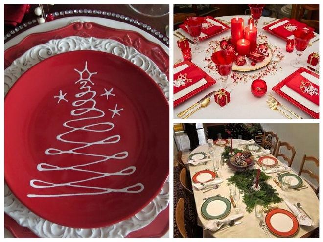 Украшаем новогодний стол салфетками