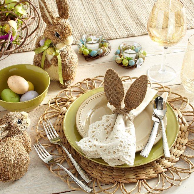 Салфетки в декоре пасхального стола
