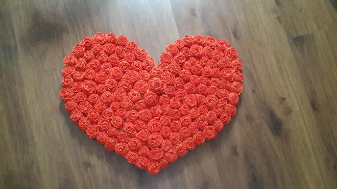 Сердце из салфетки