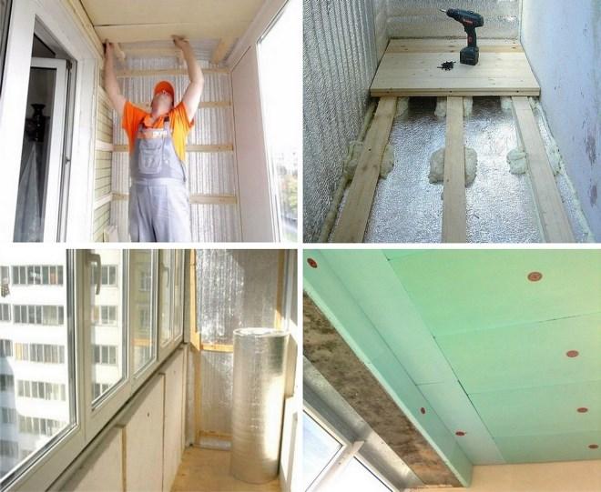 Как происходит утепление балкона и организация отопления?