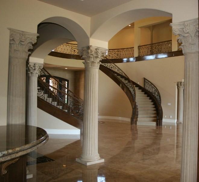 Виды колонн по форме и дизайну