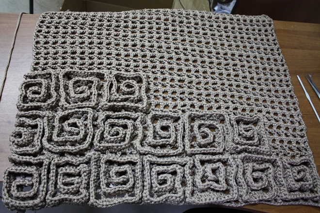 Вязание на сетке