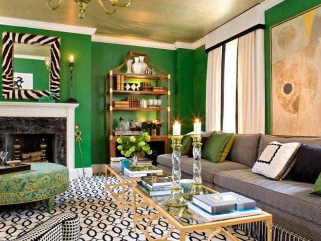 Зеленый с золотым или другим цветом металлик