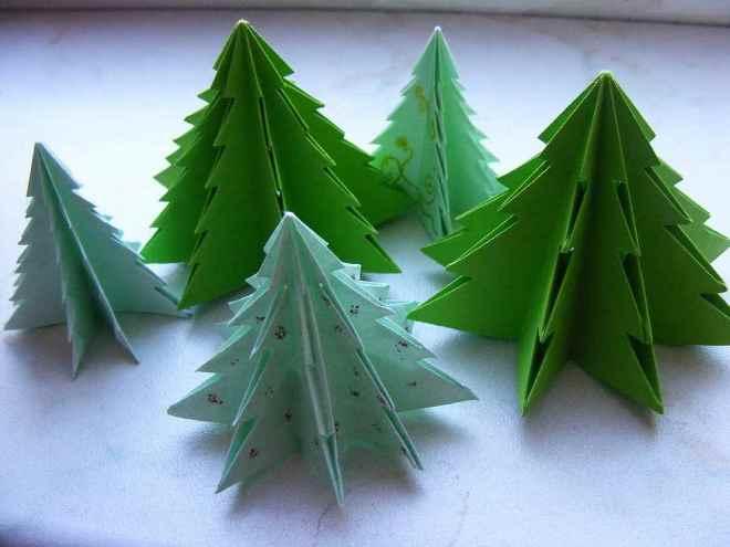 Бумажная елка