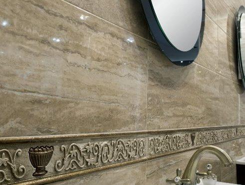 Цветовая палитра плитки под мрамор для ванной