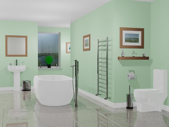Цветовая палитра стен в ванной
