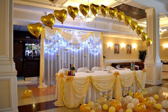 Декор свадьбы шарами