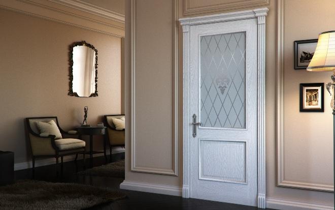 Дизайн дверей со стеклом