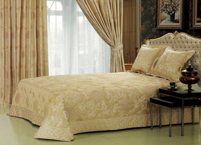 Дизайн покрывал для спальни, отделка и декор